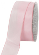 Ampelco Ribbon Company French Wired 27-Yard Taffeta Ribbon, 3.8cm , Soft Pink