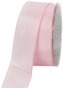 Ampelco Ribbon Company French Wired 27-Yard Taffeta Ribbon, 3.8cm , Soft Pink