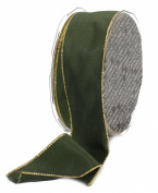 Ampelco Ribbon Company Gold Wired 27-Yard Taffeta Ribbon, 3.8cm , Forest Green