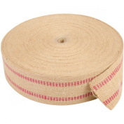 Jute Webbing 7.6cm - 1.9cm Wide 72 Yards-Natural