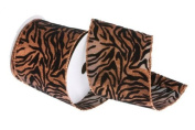 Renaissance 2000 Ribbon, 10cm , Zebra, Copper and Black