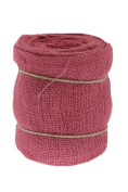 Renaissance 2000 Ribbon, 15cm , Pink Burlap with Wire