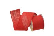 Renaissance 2000 Ribbon, 10cm , Red Burlap