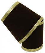 Renaissance 2000 Ribbon, 15cm , Chocolate Brown Velvet with Gold Swirl Edge