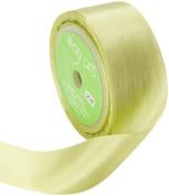 May Arts 3.2cm Wide Ribbon, Celery Silk Ribbon