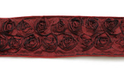 Kel-Toy Dimensional Rose Ribbon, 6.4cm by 10-Yard, Deep Red/Wine