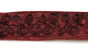 Kel-Toy Dimensional Rose Ribbon, 6.4cm by 10-Yard, Deep Red/Wine