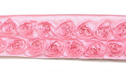 Kel-Toy Dimensional Rose Ribbon, 6.4cm by 10-Yard, Pink