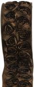 Kel-Toy Dimensional Rose Ribbon, 6.4cm by 10-Yard, Red Rosettes on Black Ribbon