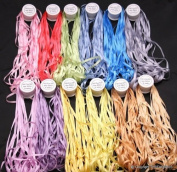 New 7mm size ThreadNanny 12 Spools of 100% Pure Silk Embroidery Ribbons - 7mm x 10 Metres