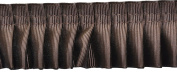 Pleated Trim Gathered Pleated Grosgrain Ribbon Roll, Brown, 25-Yard