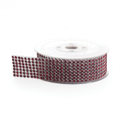 Koyal Rhinestone Ribbon with Stones, Ruby Red