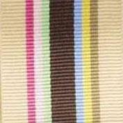 Schiff Ribbons 44274-9 Multi-Stripe 3.8cm Fabric Ribbon, 100-Yard, Tan/Brown/Pink/Green/Blue/Yellow