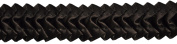 Pleated Trim Ruffeled Pleated Grosgrain Ribbon Roll, Brown, 25-Yard