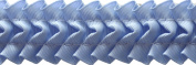 Pleated Trim Ruffeled Pleated Grosgrain Ribbon Roll, Light Blue, 25-Yard