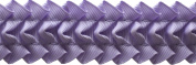 Pleated Trim Ruffeled Pleated Grosgrain Ribbon Roll, Orchid, 25-Yard