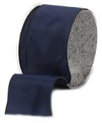 Ampelco Ribbon Company French Wired 27-Yard Taffeta Ribbon, 6.4cm , Navy Blue