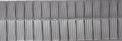 Pleated Trim Boxpleated Grosgrain Ribbon Roll, Grey, 25-Yard