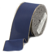 Ampelco Ribbon Company Gold Wired 27-Yard Taffeta Ribbon, 6.4cm , Navy Blue