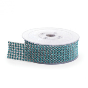 Koyal Rhinestone Ribbon with Stones, Aqua