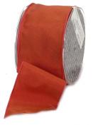 Ampelco Ribbon Company French Wired 27-Yard Taffeta Ribbon, 6.4cm , Copper