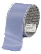 Ampelco Ribbon Company French Wired 27-Yard Taffeta Ribbon, 6.4cm , Light Blue