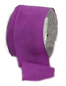 Ampelco Ribbon Company French Wired 27-Yard Taffeta Ribbon, 6.4cm , Purple