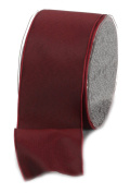 Ampelco Ribbon Company French Wired 27-Yard Taffeta Ribbon, 6.4cm , Burgundy