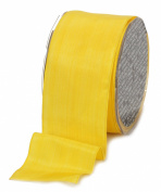 Ampelco Ribbon Company French Wired 27-Yard Taffeta Ribbon, 6.4cm , Yellow
