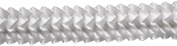 Pleated Trim Ruffeled Pleated Grosgrain Ribbon Roll, White, 25-Yard