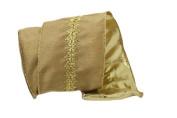 Renaissance 2000 Ribbon, 10cm , Gold Satin with Middle Gold Lace