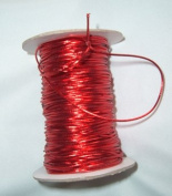 Elastic Cord/Ribbon - Metallic Red - 0.2cm wide - 100 Yards