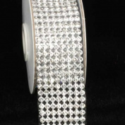 Crystal Diamond Craft Ribbon Trim with Silver Setting 3.8cm x 1 Yard