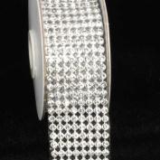 Crystal Diamond Craft Ribbon Trim with Silver Setting 3.8cm x 1 Yard