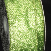 Premium Sparkling Green Wired Glitter Craft Ribbon 5.1cm x 40 Yards