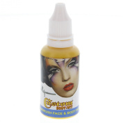 Custom Body Art 30ml Yellow Water Based Airbrush Body Art & Face Paint