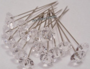Crystal Diamante Corsage Pins pk/100