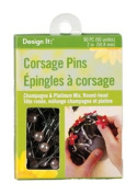 FloraCraft Floral Accessories 90-Corsage Pins, Champagne