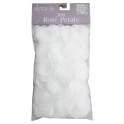 Fabric Rose Petals, White
