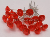 Red Diamante Pins / pk 100