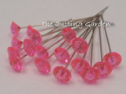 Pink Crystal Diamante 5.1cm Pins / pk 100