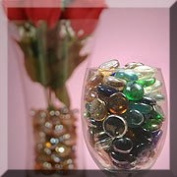 Flat Glass Marbles Assorted
