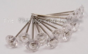 Crystal Clear Diamond Pixie Corsage / Boutonniere Pins 1.9cm 100pcs