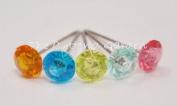 Assorted Colours Crystal Diamond Pixie Corsage / Boutonniere Pins 1.9cm 100pcs