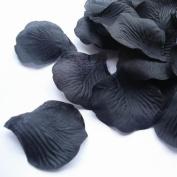 1000pcs Black Silk Rose Petals Bouquet Artificial Flower Wedding Party Aisle Decor Tabl Scatters Confetti