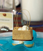 Natural Miniature Woven Beach Bags, One