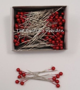 Red Pearl Corsage / Boutonniere Pins 5.1cm pk/144