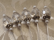 Corsage Pins Duchess - 6.4cm 5pcs