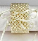 Corsage Bracelet - Flower Bracelet Champagne