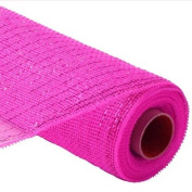Decor Mesh Fuchsia with Fuchsia Foil 50cm X 30 Ft